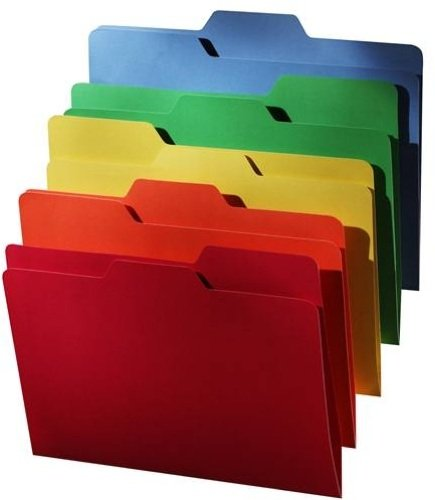 Find It All Tab File Folders, Letter Size, 5 Color